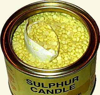 Flowers Of Sulfur Candles For Fumigating